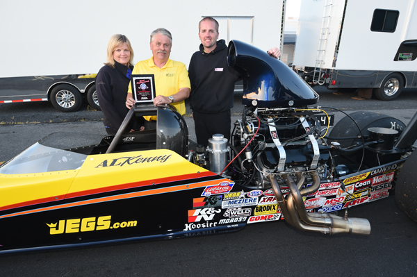 Al Kenny's Top Dragster was awarded Best Engineered