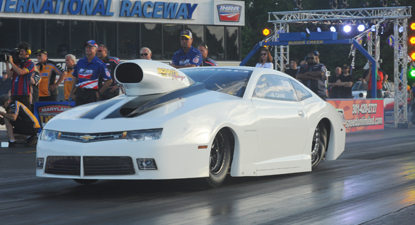 JR Carr grabbed the pole in Pro Stock with his Camaro at a 6.293 after Friday's second session