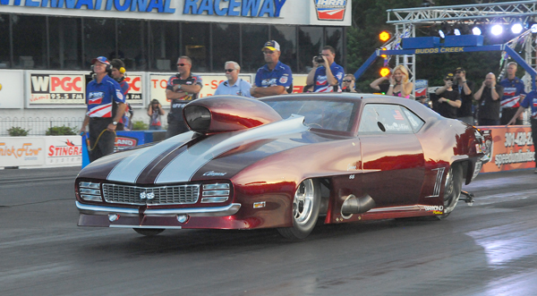 Chuck Mohn from Fountainville PA, is #2 in Pro Mod qualifying with one session left to move up to #1