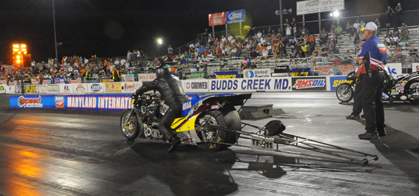 Jay Turner is the class of the Fuel Harleys with a 6.321