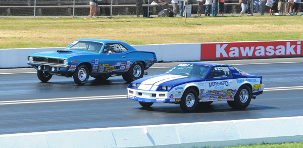 Miller chased the Chevy of Morehead down for the Englishtown Super Stock title