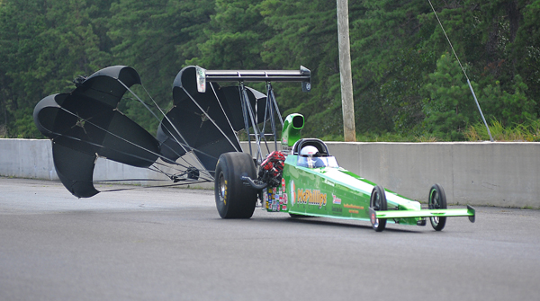 Top Alcohol Dragster winner Rich McPhilips