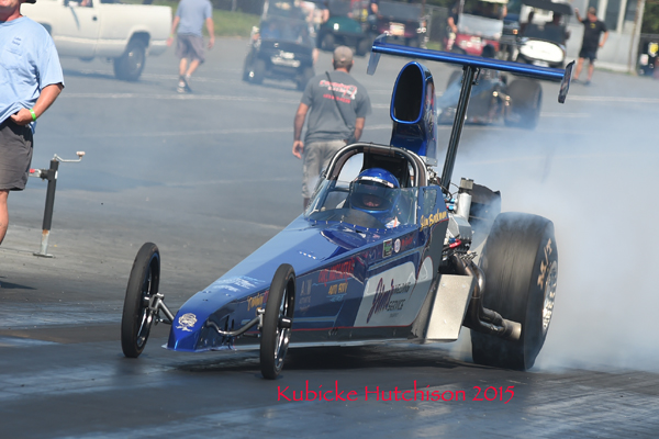 had his Ford powered dragster in the finals of Top Dragster
