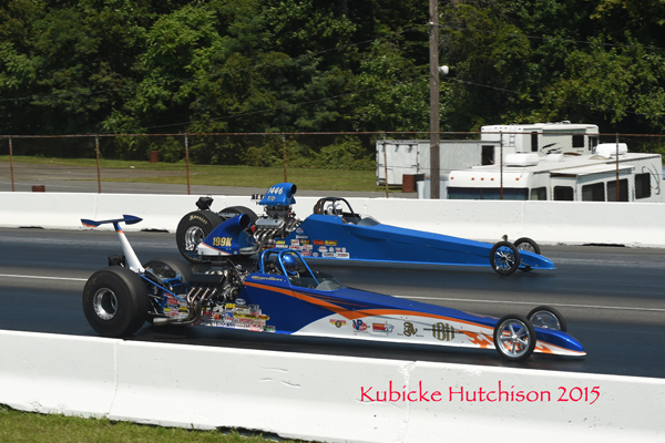 Joe Di Pasquale (far lane) went 0.007 too quick in his semifinal race putting Kultrera in his first NED Top Dragster final