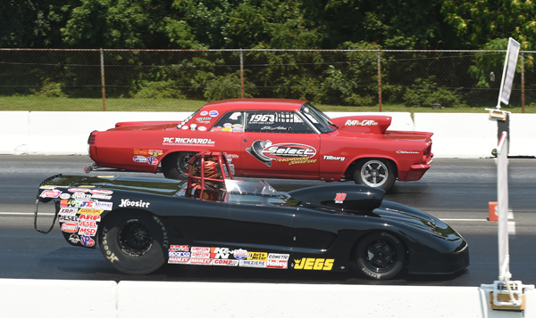 Jason beat the big Pontiac of Ed Alessi in his semifinal race